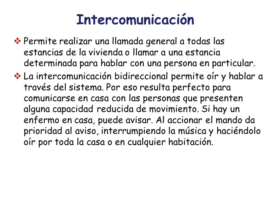 Intercomunicación