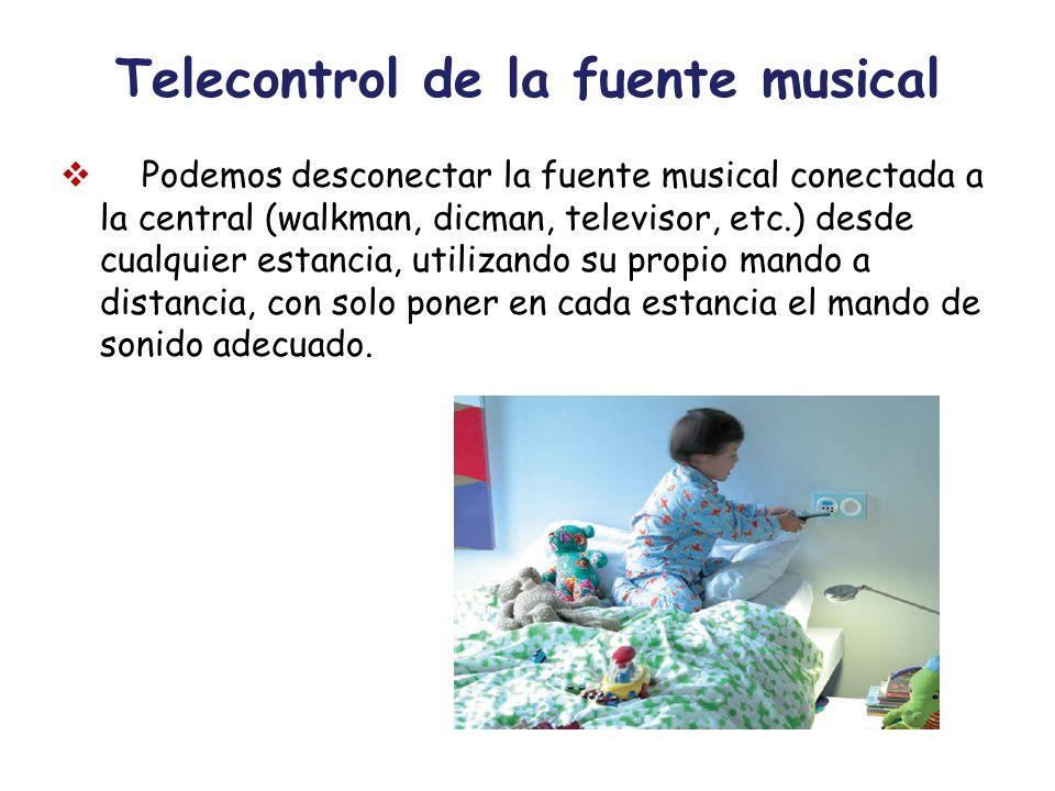 Telecontrol de la fuente musical