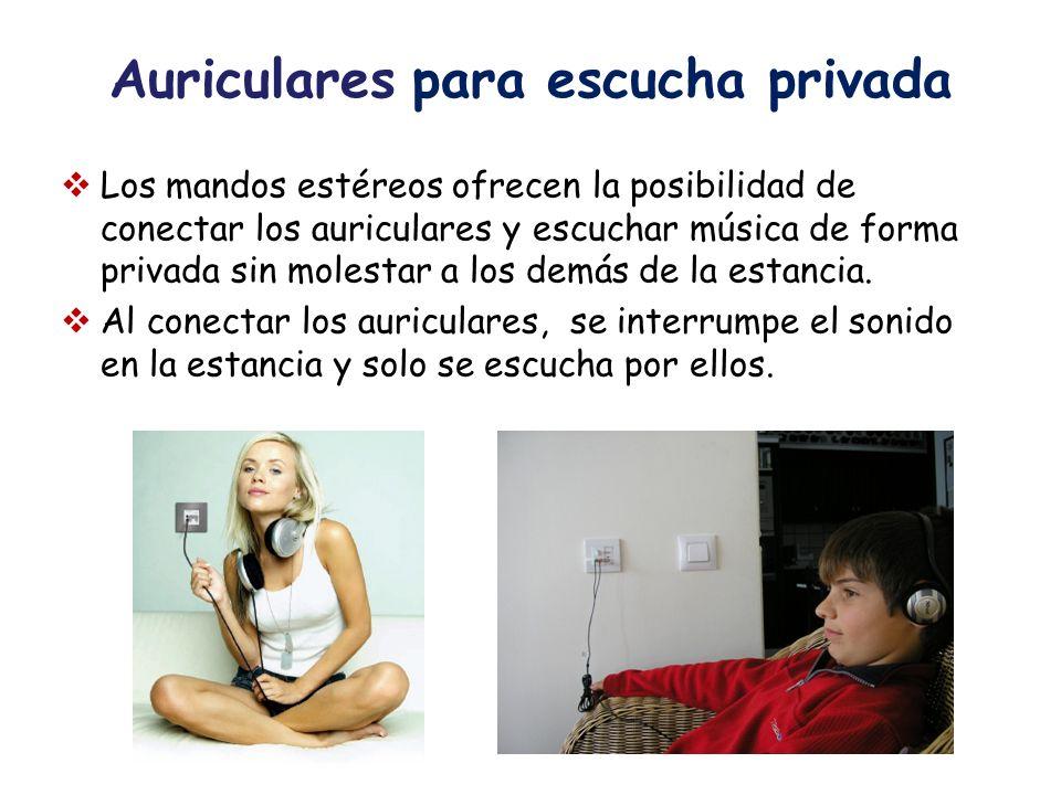 Auriculares para escucha privada
