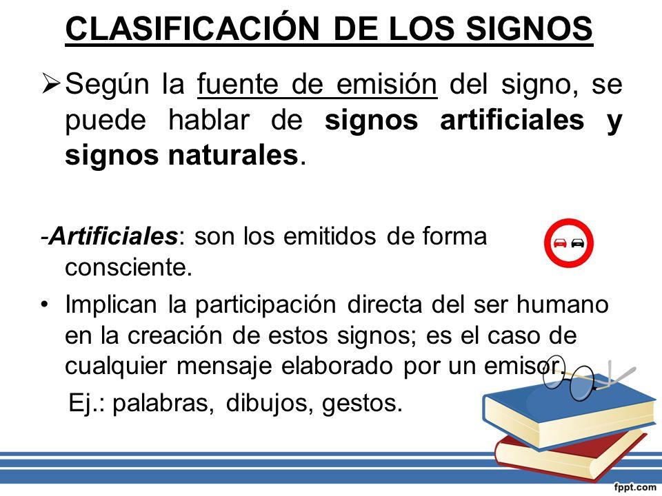 CLASIFICACIÓN DE LOS SIGNOS