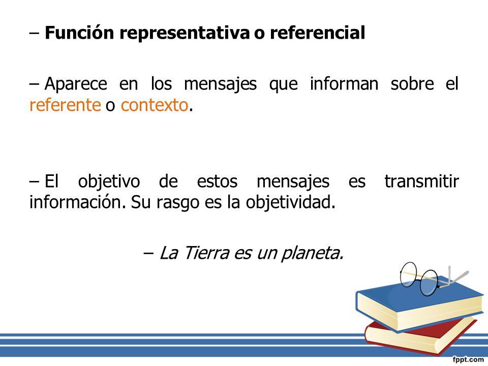 Función representativa o referencial