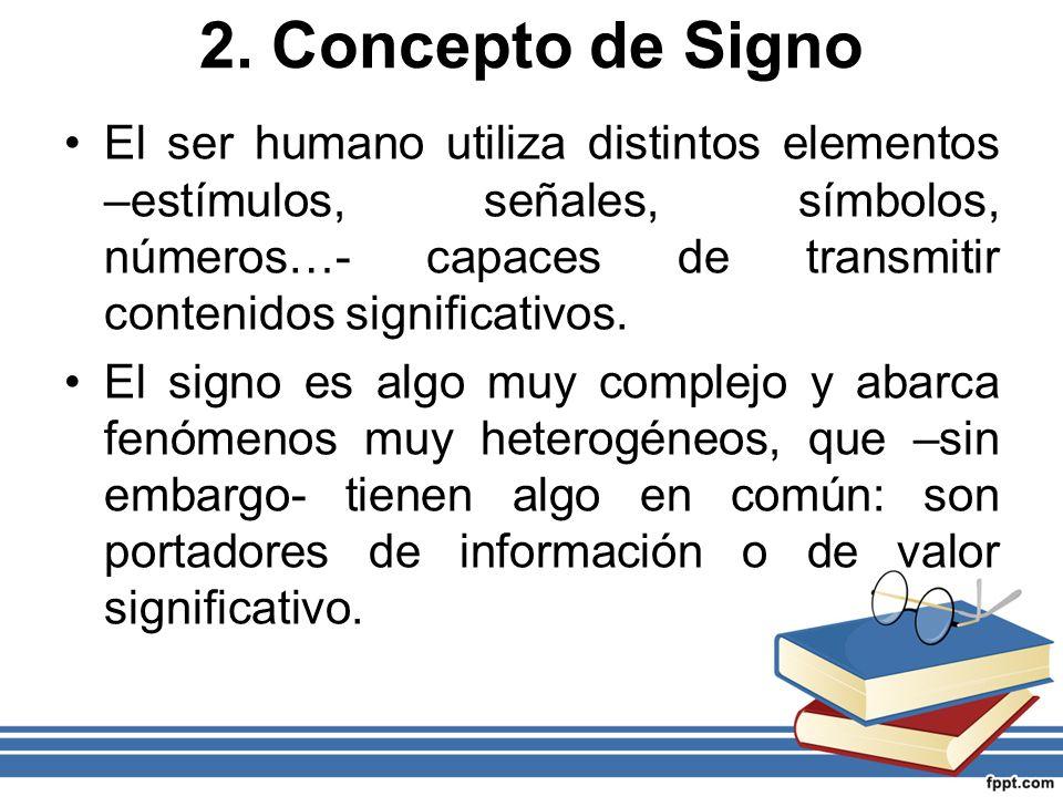 2. Concepto de Signo