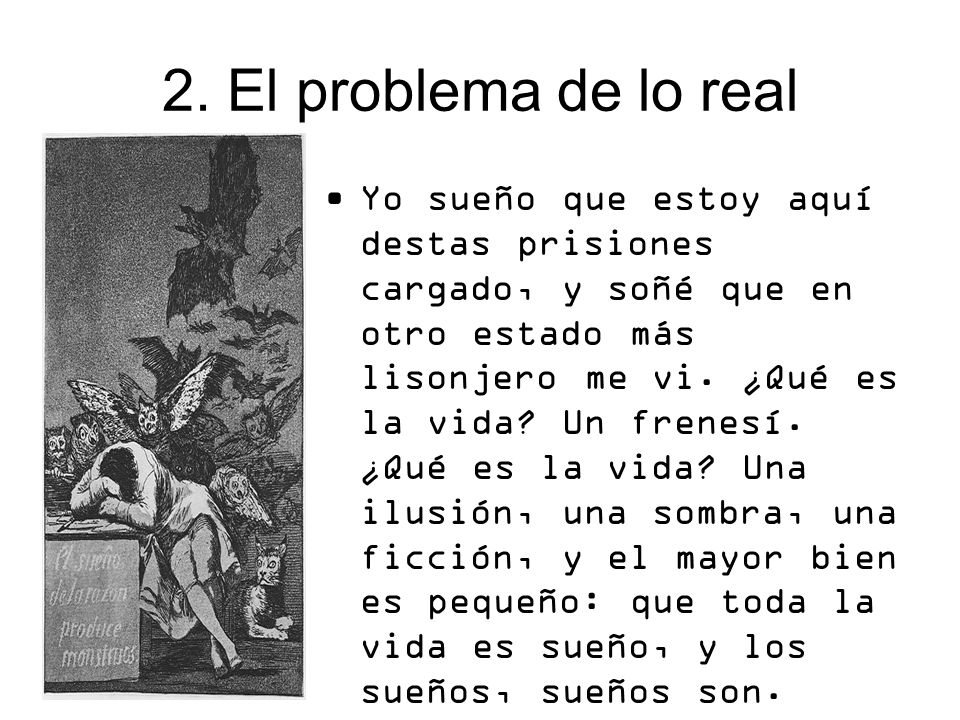 2. El problema de lo real