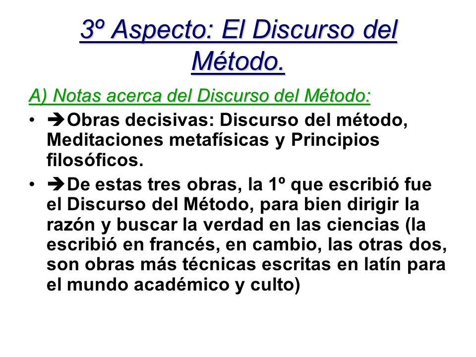 3º Aspecto: El Discurso del Método.