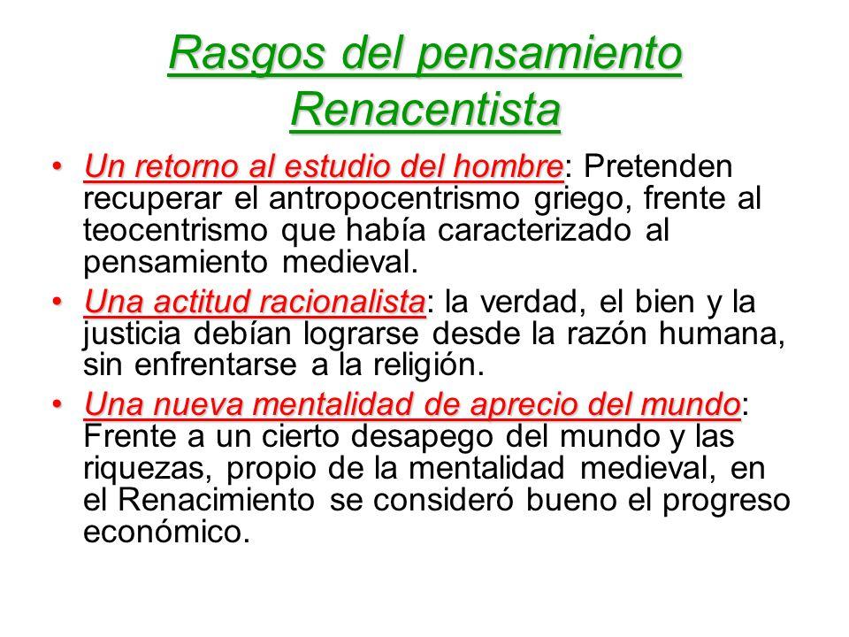 Rasgos del pensamiento Renacentista
