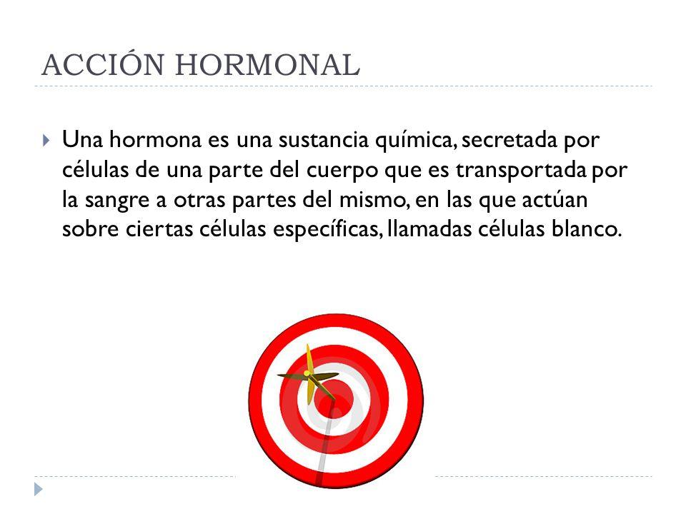 ACCIÓN HORMONAL
