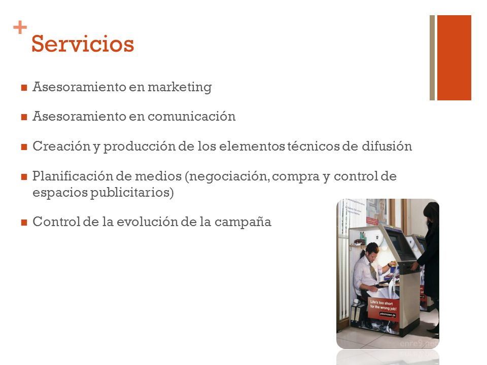 Servicios Asesoramiento en marketing Asesoramiento en comunicación