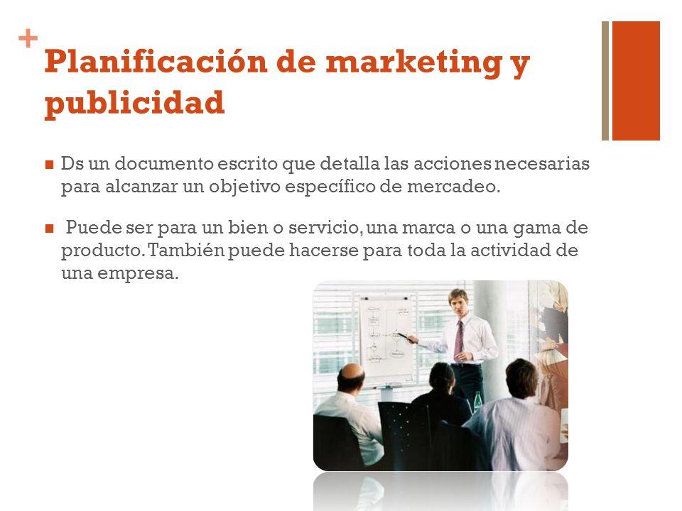 Planificación de marketing y publicidad