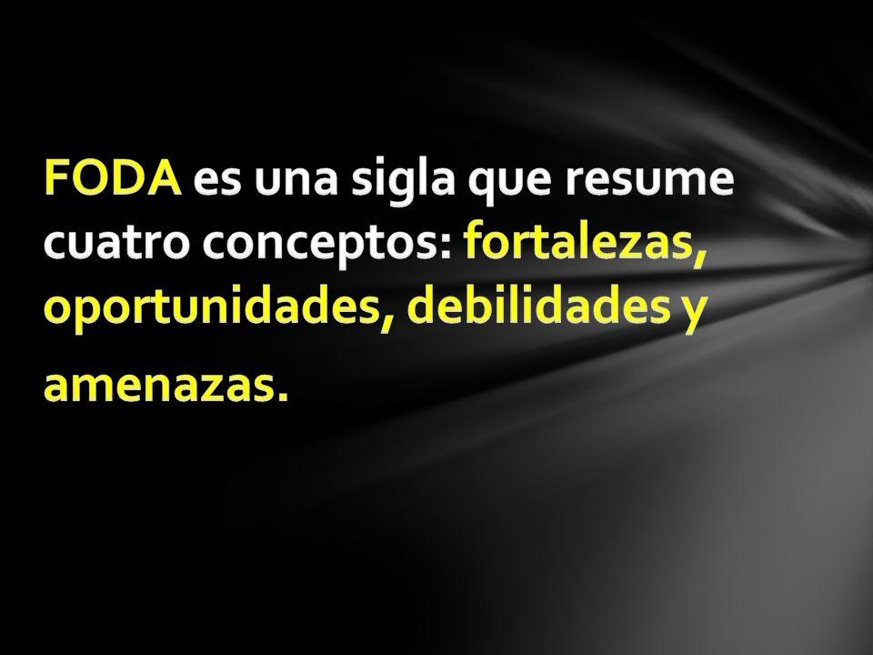 FODA es una sigla que resume cuatro conceptos: fortalezas, oportunidades, debilidades y amenazas.