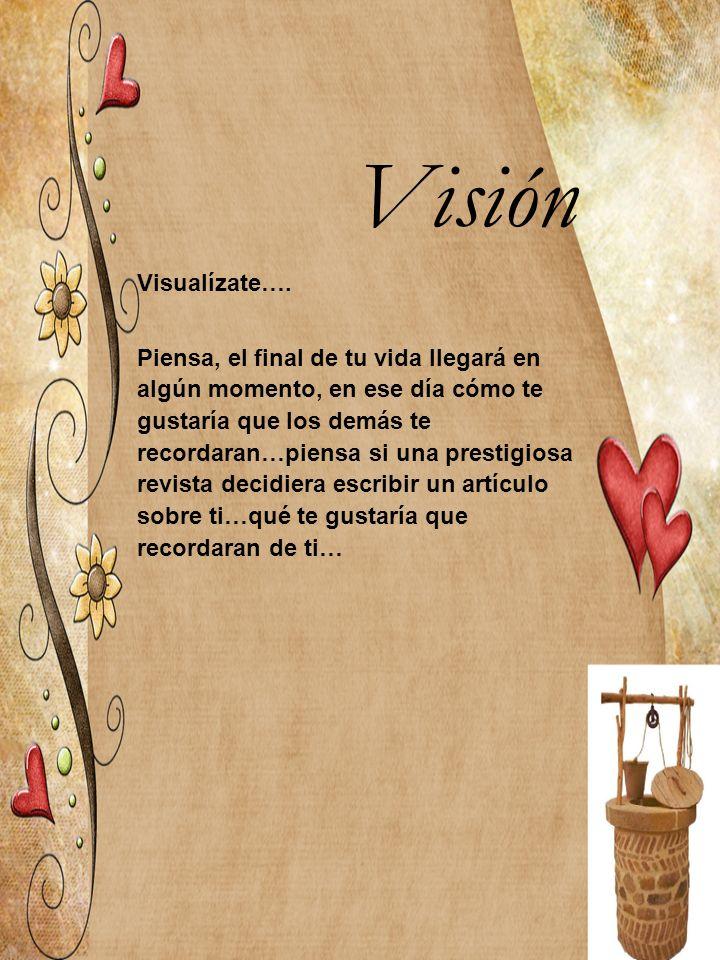 Visión Visualízate….