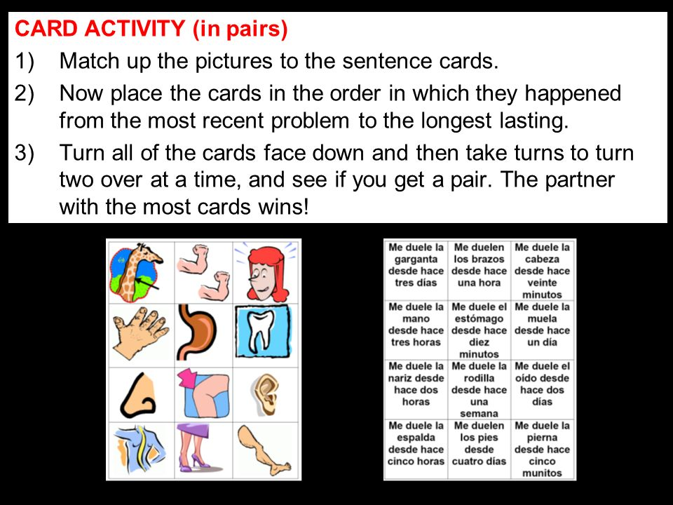 CARD ACTIVITY (in pairs)