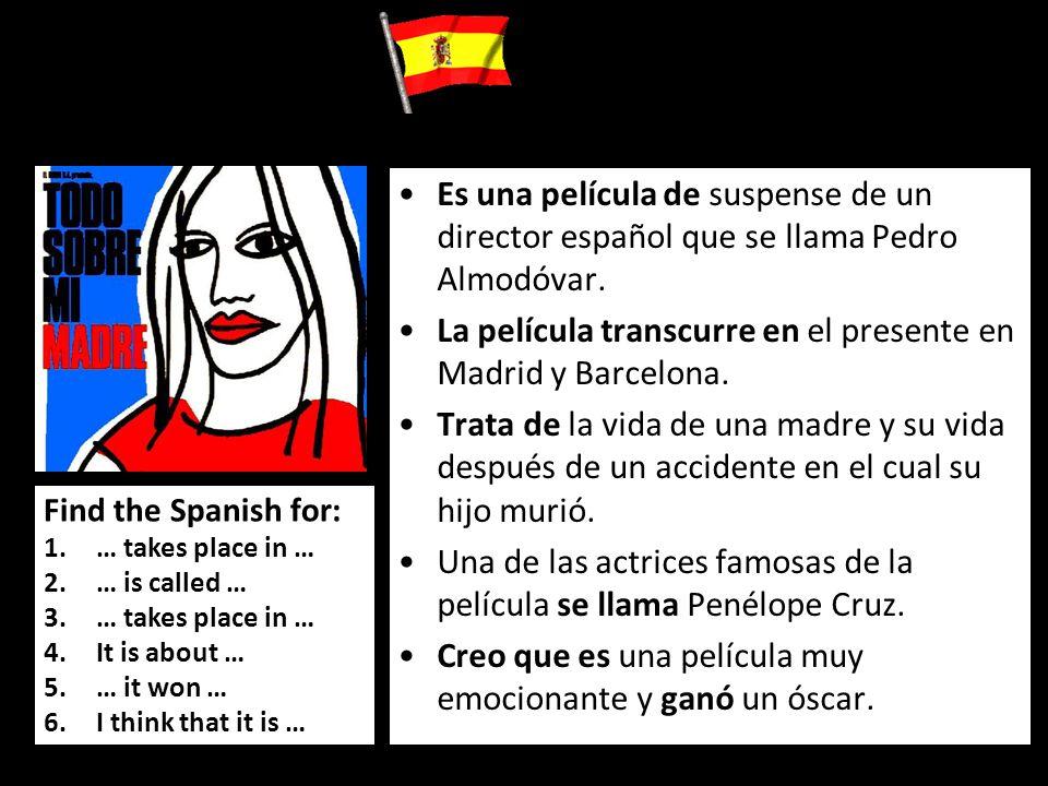 La película transcurre en el presente en Madrid y Barcelona.