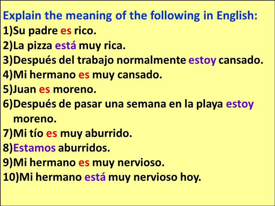 Explain the meaning of the following in English: