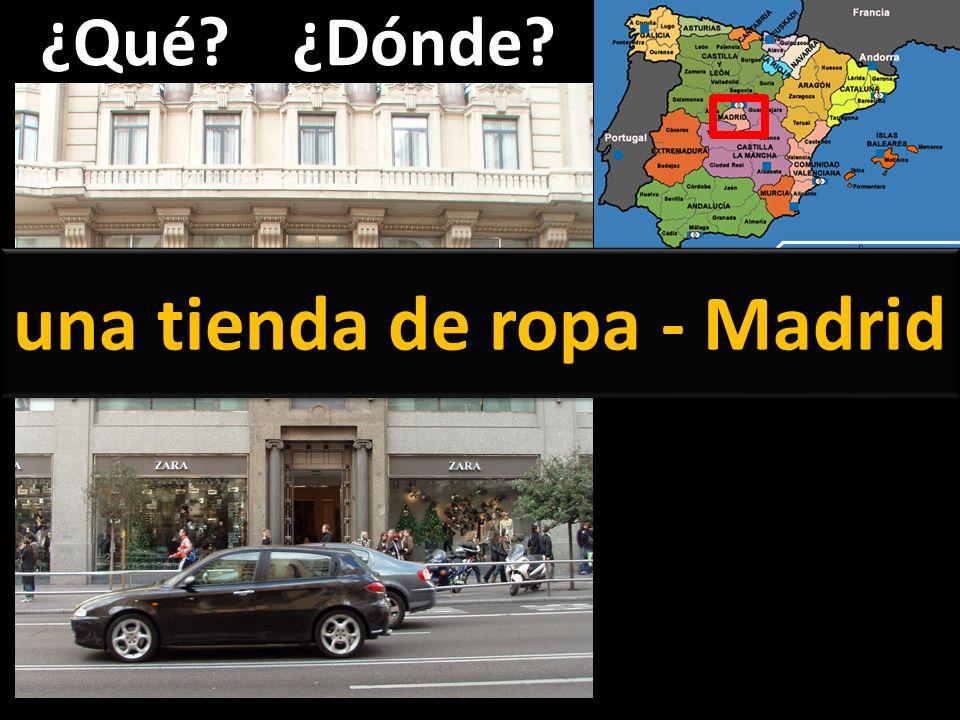 una tienda de ropa - Madrid
