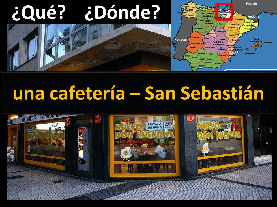 una cafetería – San Sebastián