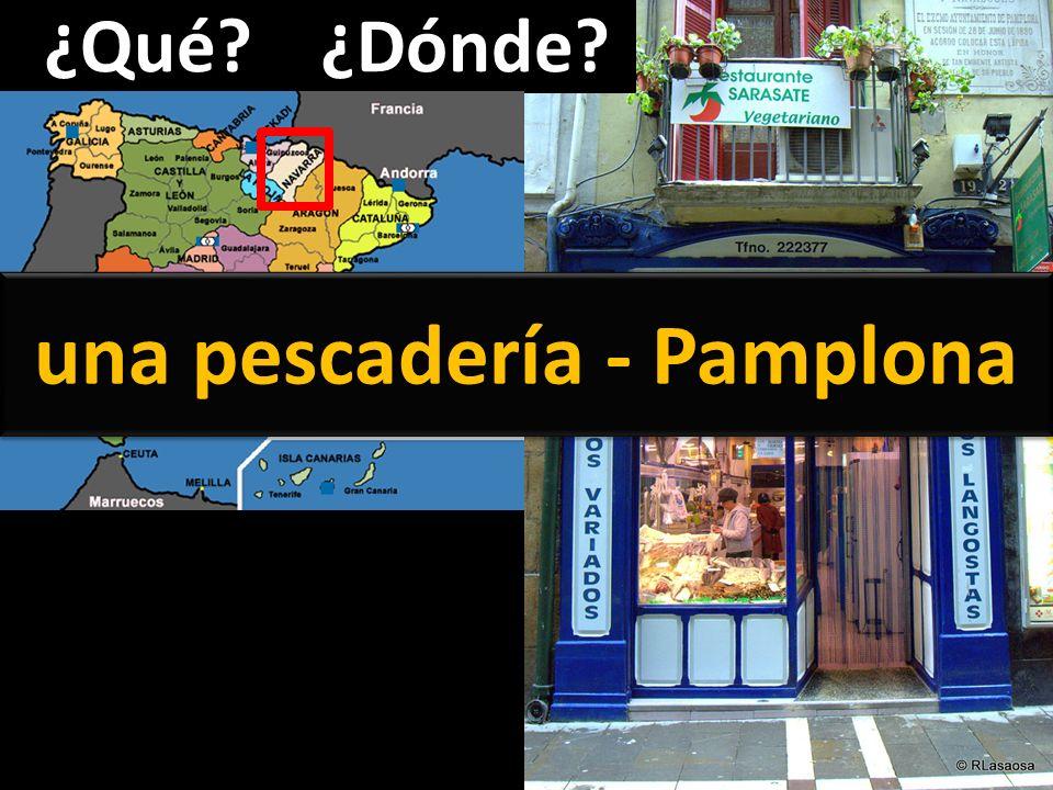 una pescadería - Pamplona