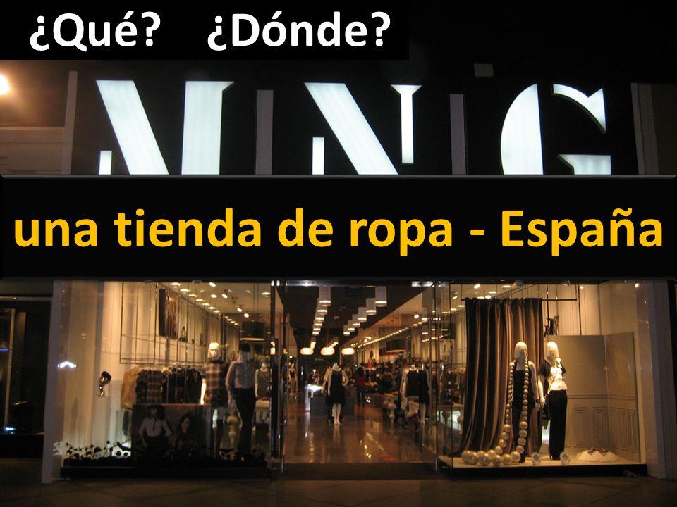 una tienda de ropa - España