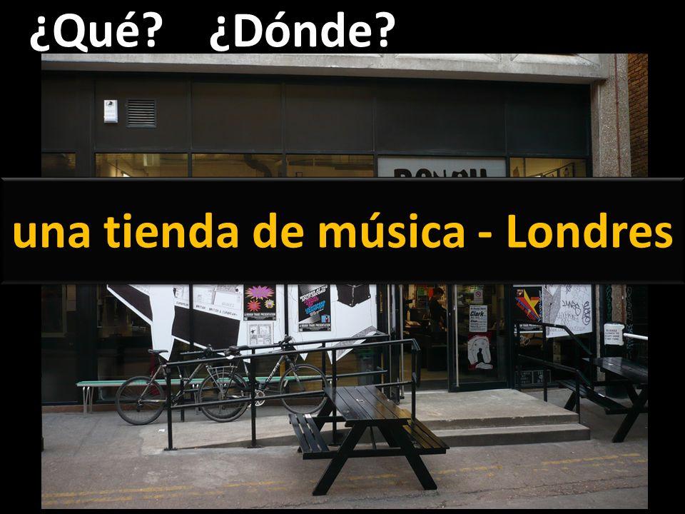una tienda de música - Londres