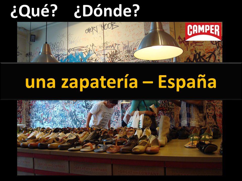 ¿Qué ¿Dónde una zapatería – España