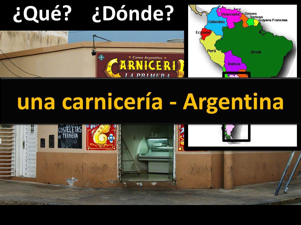una carnicería - Argentina
