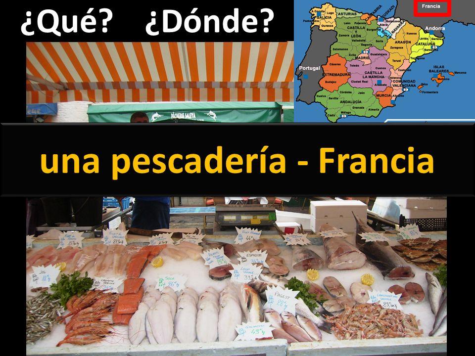una pescadería - Francia