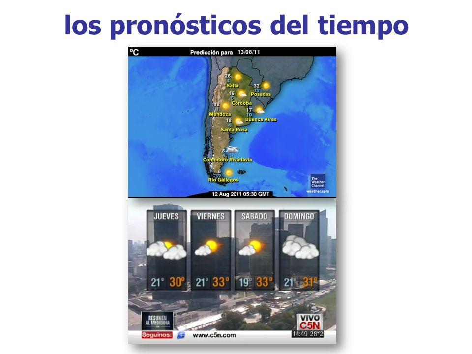 los pronósticos del tiempo