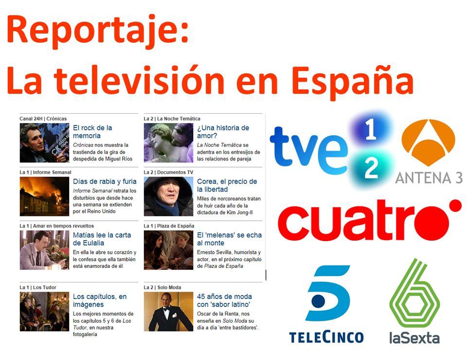 Reportaje: La televisión en España