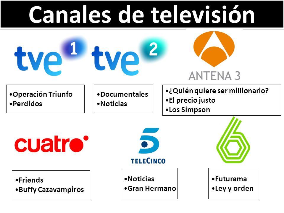 Canales de televisión Operación Triunfo Perdidos Documentales Noticias