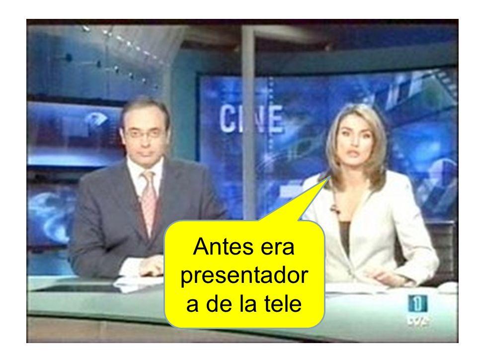 Antes era presentadora de la tele