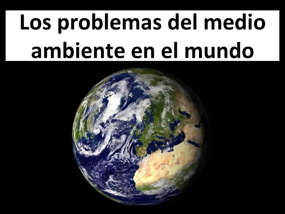 Los problemas del medio ambiente en el mundo