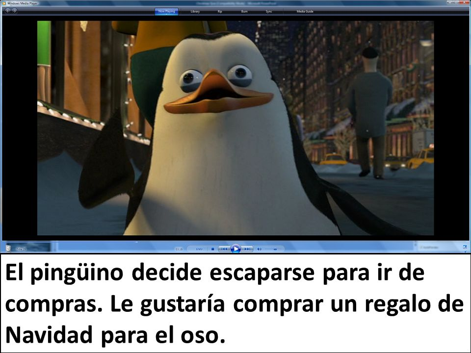 El pingüino decide escaparse para ir de compras