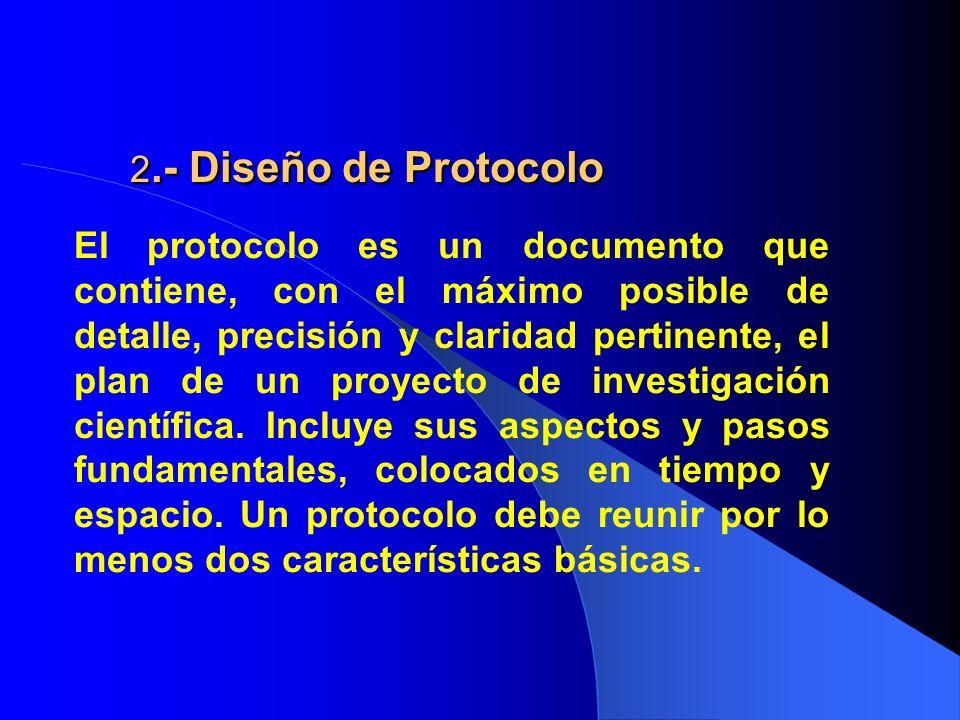 2.- Diseño de Protocolo