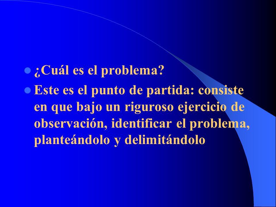 ¿Cuál es el problema