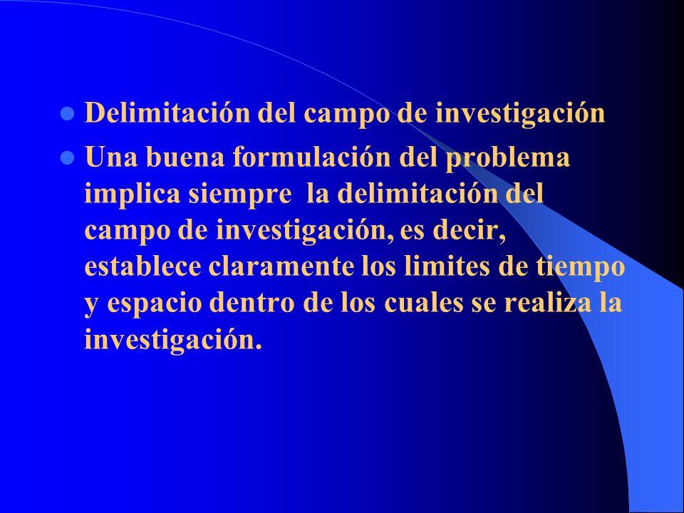 Delimitación del campo de investigación