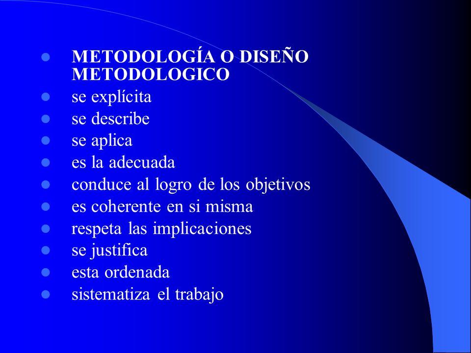 METODOLOGÍA O DISEÑO METODOLOGICO