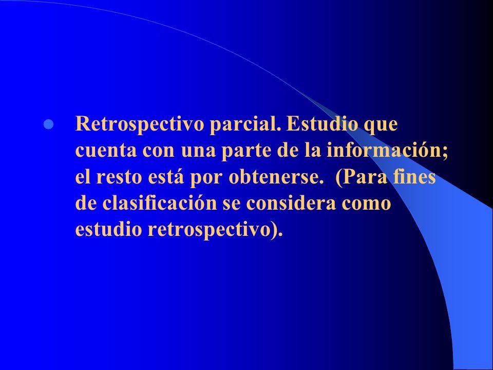 Retrospectivo parcial