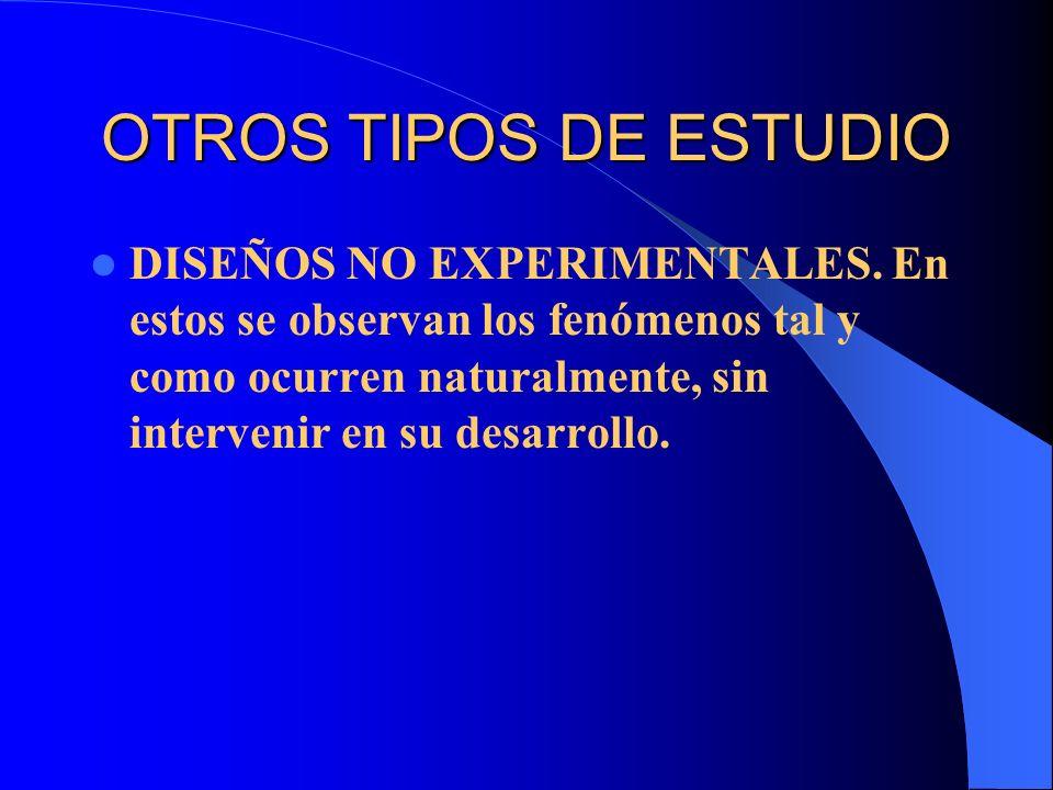 OTROS TIPOS DE ESTUDIO
