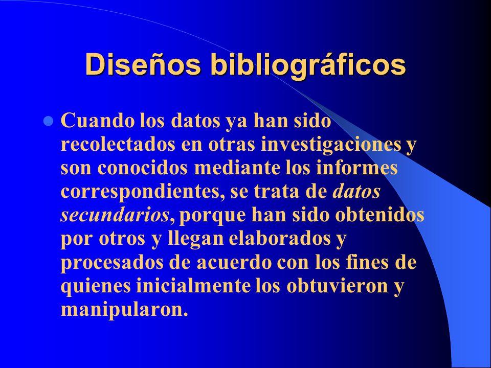 Diseños bibliográficos