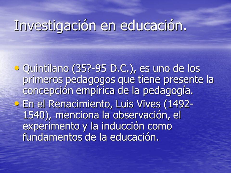 Investigación en educación.