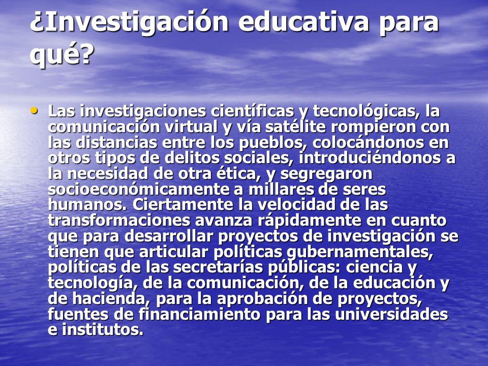 ¿Investigación educativa para qué