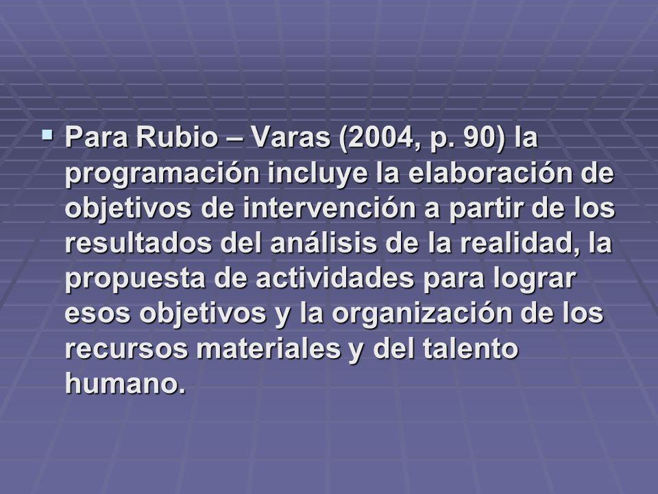 Para Rubio – Varas (2004, p.