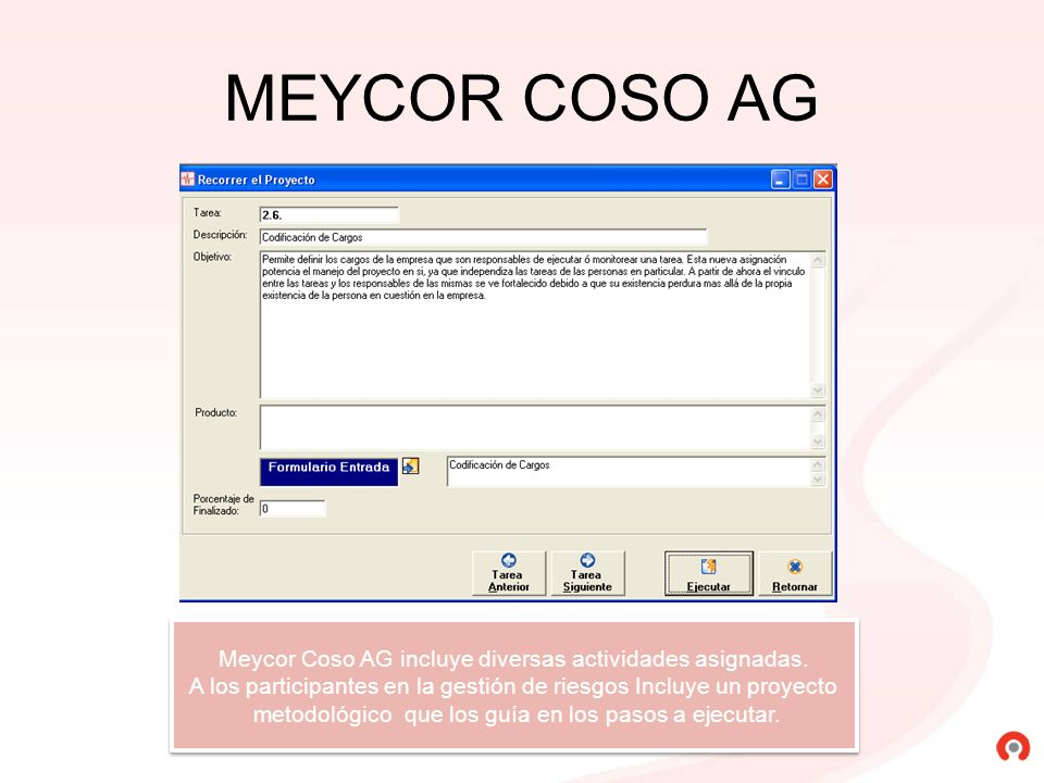 MEYCOR COSO AG Meycor Coso AG incluye diversas actividades asignadas.