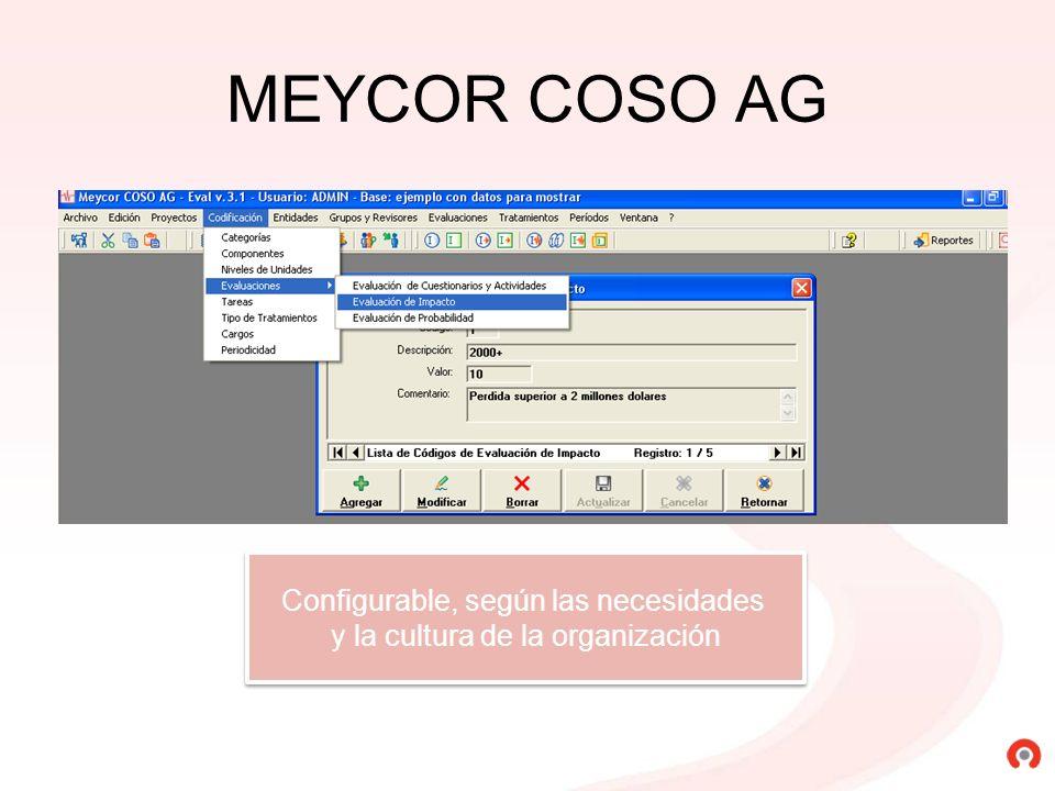 MEYCOR COSO AG Configurable, según las necesidades