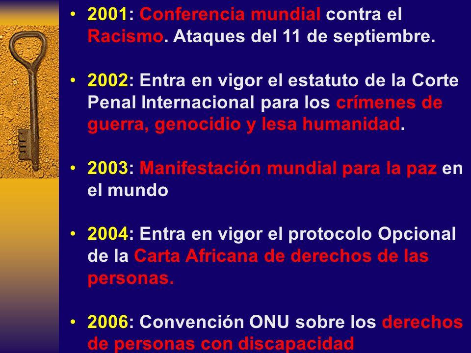2001: Conferencia mundial contra el Racismo