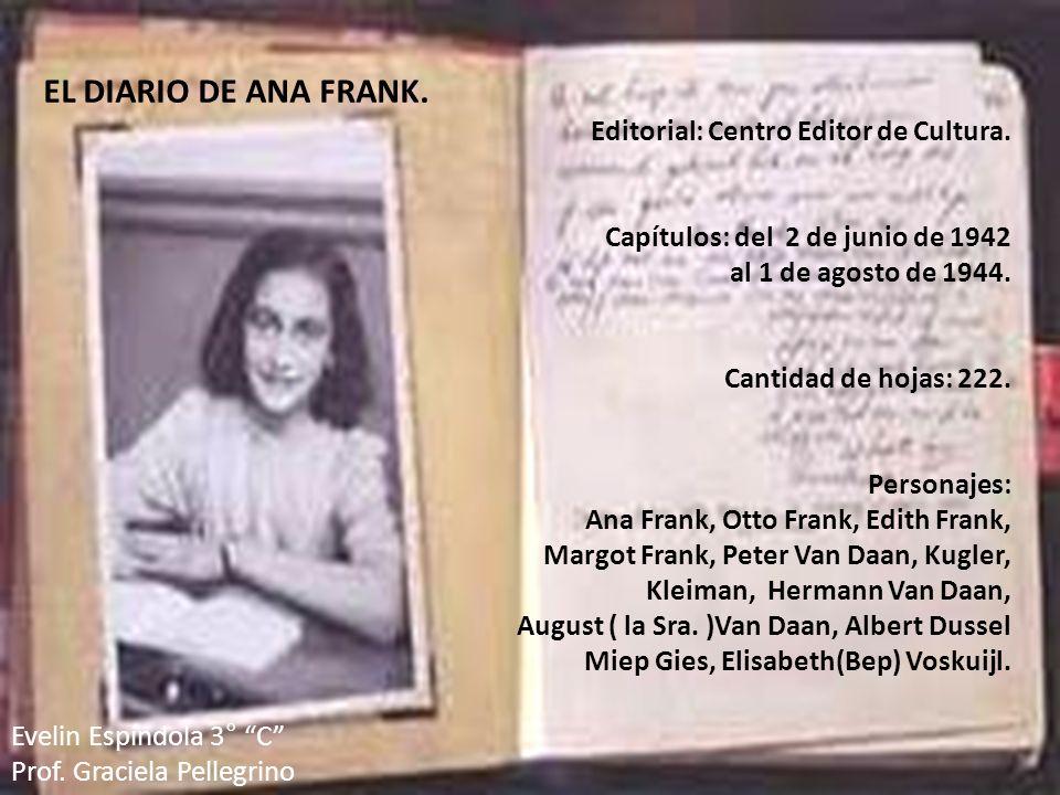 EL DIARIO DE ANA FRANK. Editorial: Centro Editor de Cultura.