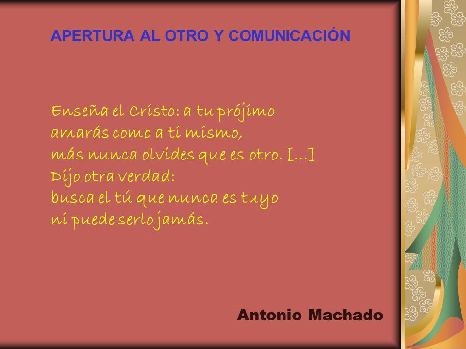 APERTURA AL OTRO Y COMUNICACIÓN