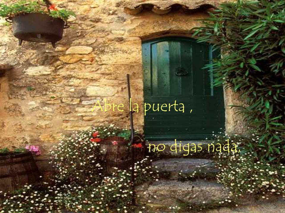 Abre la puerta , no digas nada,