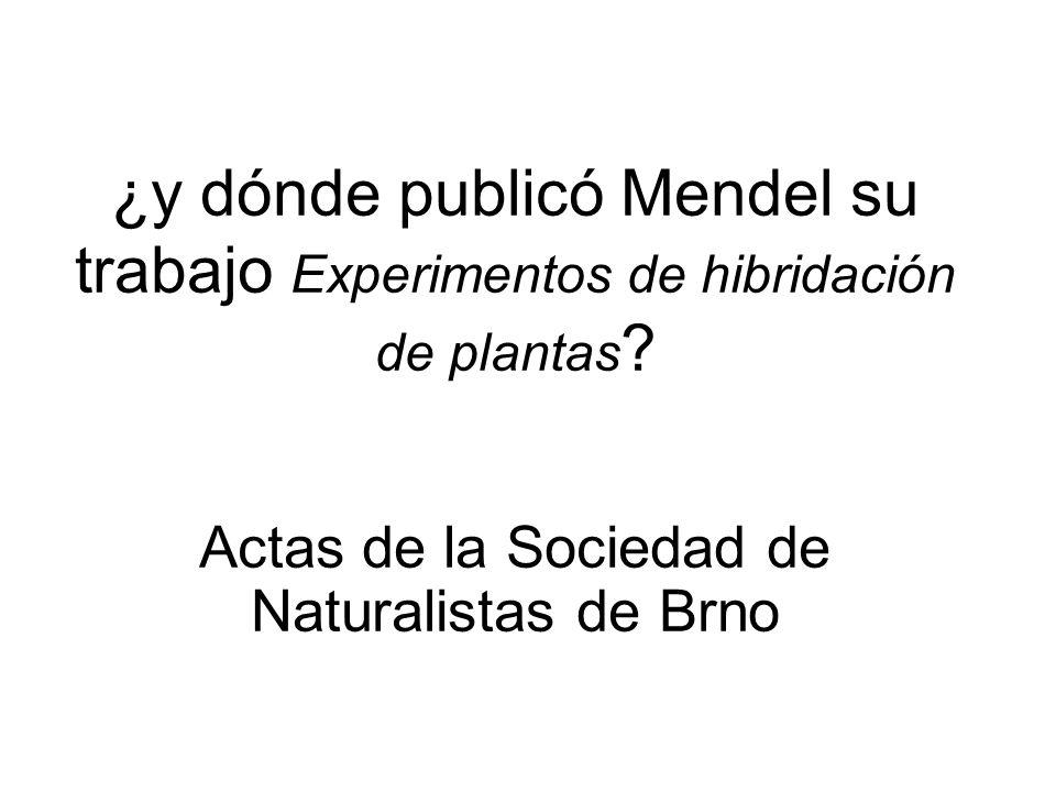 Actas de la Sociedad de Naturalistas de Brno