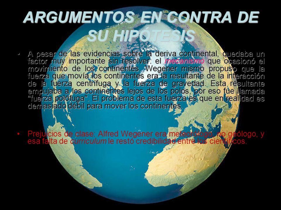 ARGUMENTOS EN CONTRA DE SU HIPÓTESIS