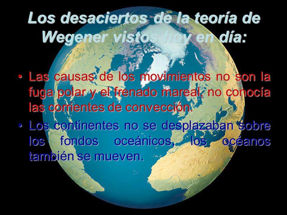 Los desaciertos de la teoría de Wegener vistos hoy en día: